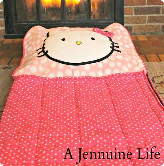 DIY Hello Kitty Sleeping Bag