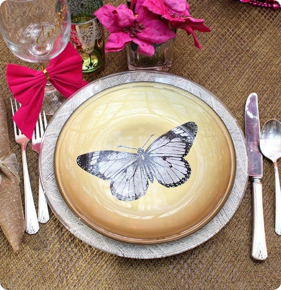 DIY Home Decor ~ Apply an image and paint to the underside of a glass plate so it's still food safe!