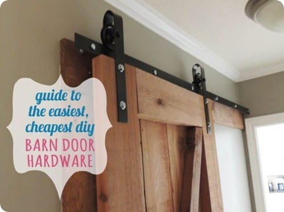 DIY Home Ideas ~ All you need is an afternoon and about five hours to save over $300 by making your own sliding barn door hardware!