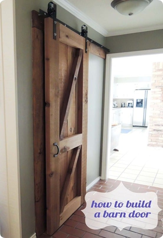 DIY Home Ideas ~ Follow these steps to make your own sliding barn door for $75!