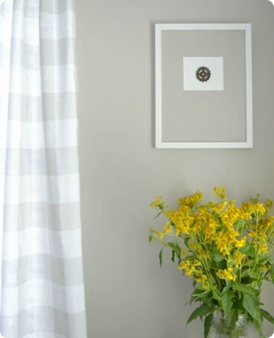DIY Wall Art ~ Make simple cameo art by hot gluing a decorative piece into the opening of a frame.