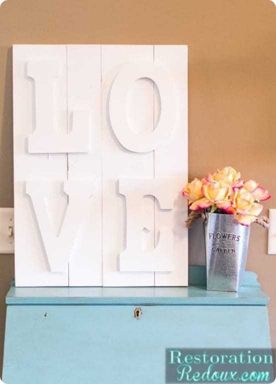 DIY Wall Art ~ Pottery Barn Knock Off LOVE Art