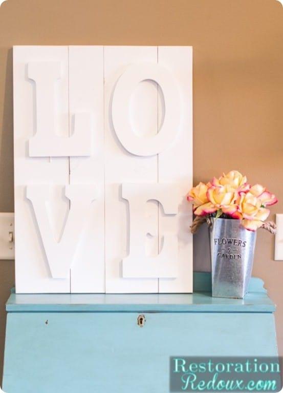 DIY Wall Art ~ Pottery Barn Knock Off LOVE Art
