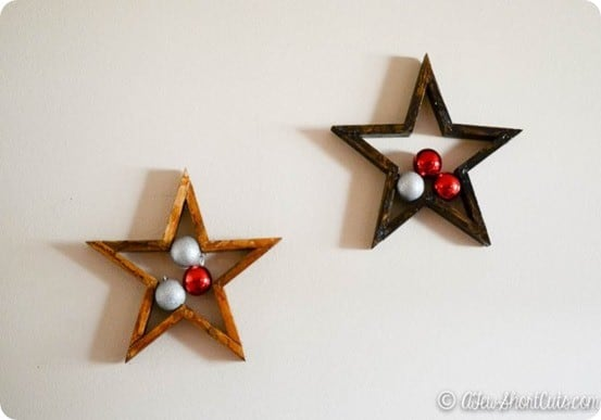 DIY Wall Decor ~ Make TWO Pottery Barn knock off wood stars for less than a dollar using an eight-foot furring strip!