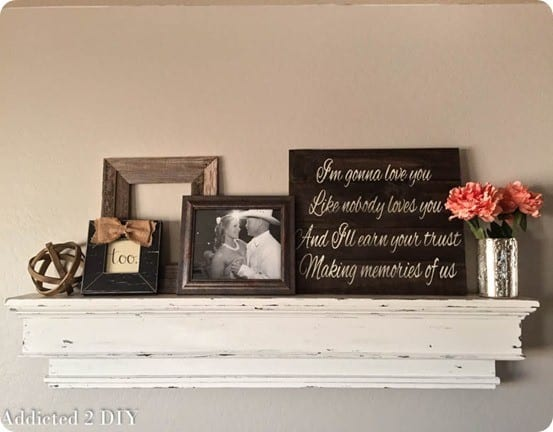 DIY Wood Projects ~ Build this Ballard Designs knock off mantel shelf for only $40!