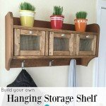 Entryway Hanging Storage Shelf