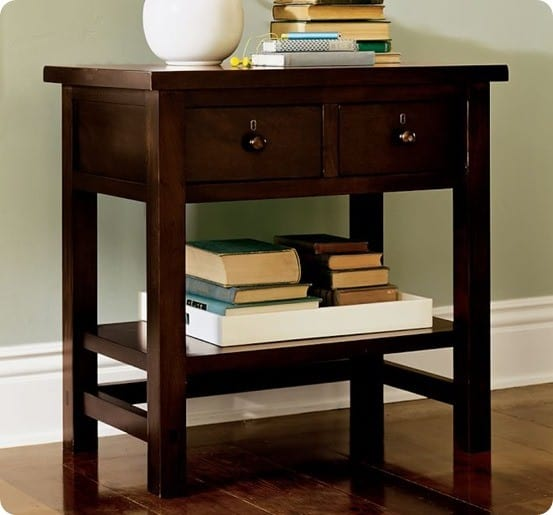 Farmhouse 2-Drawer Bedside Table from Pottery Barn
