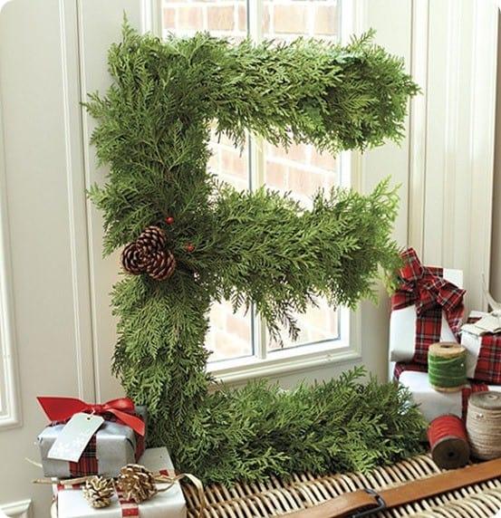 Fresh Cedar Alphabet Wreath from Ballard Designs