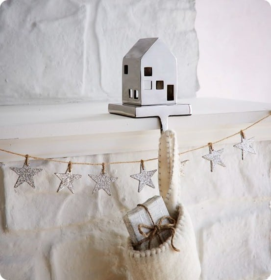 Metal House Stocking Holder from West Elm
