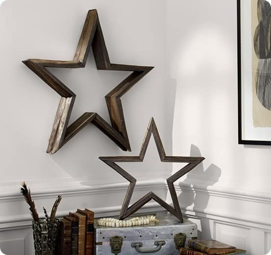 Milled Log Stars from Pottery Barn