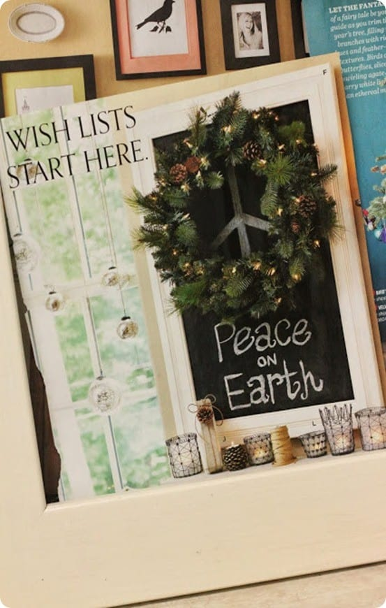 Peace on Earth Christmas Chalkboard from Ballard Designs