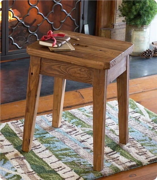 Plow and Hearth Elmwood Stool
