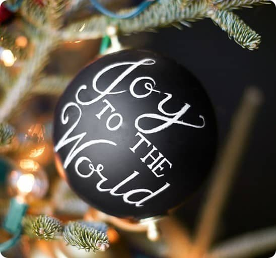 Pottery Barn Joy to the Worl Globe Ornament