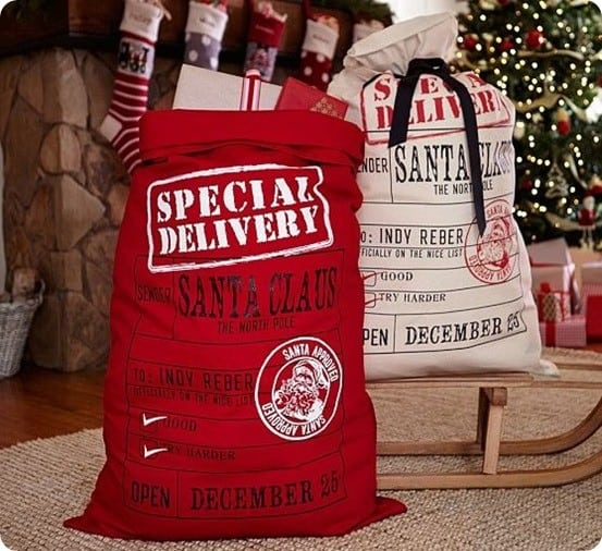 Pottery Barn Kids Special Delivery Santa Bags