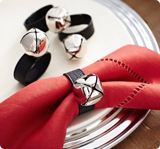 Pottery Barn's Jingle Bell Napkin Rings