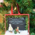 Turn Gift Boxes into Shadowbox Ornaments