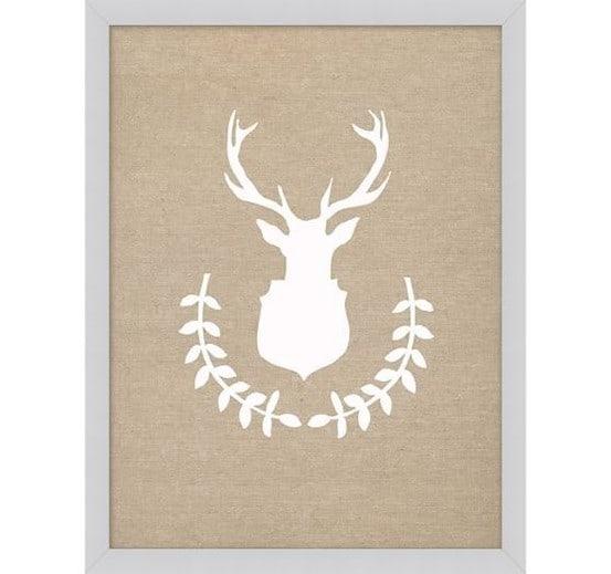 Stephanie Sterjovski Wreath Deer Print from Pottery Barn