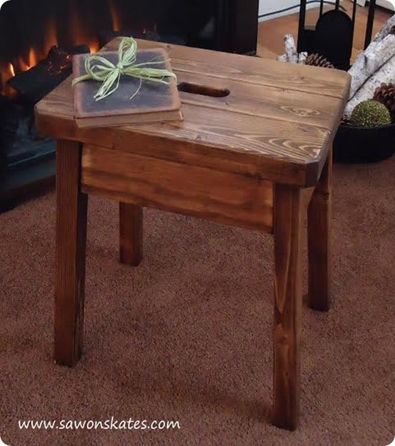 Wood Projects ~ Make this wood stool for only $9!