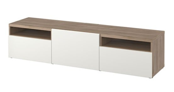 Floating media console for under 30 for Floating console table ikea