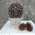 Wintery Pinecone Topiary
