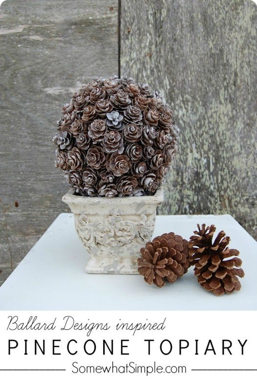Ballard Designs Inspired Pinecone Topiary