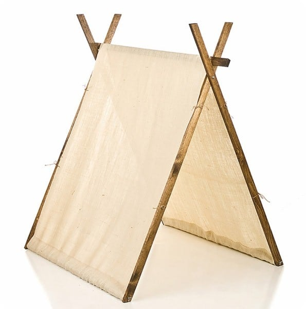Burlap Children's Play Tent from Rosenberry Rooms