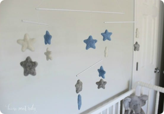 DIY Crafts ~ Felted Wool Star Baby Mobile inspired by Restoration Hardware