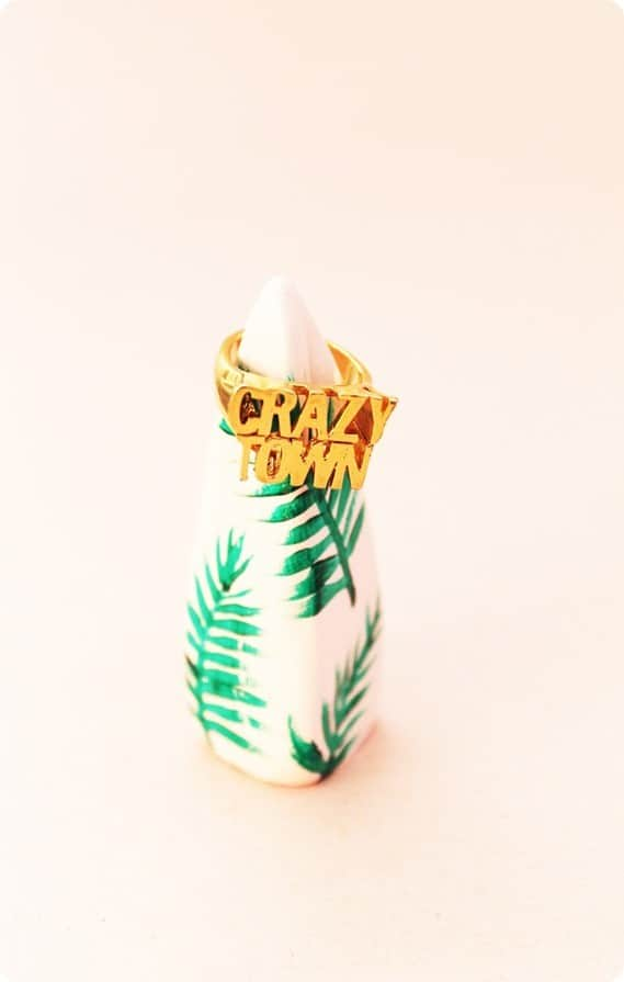 DIY Crafts ~ Make a ring holder like those from Anthropologie using air dry clay. These are inexpensive to make and would be perfect gifts for a fellow jewelry lover!