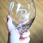 Easy Etched Monogram Wine Glasses