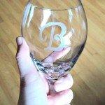 Easy Etched Monogram Wine Glasses