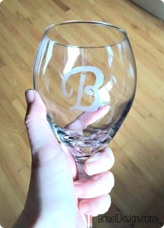 DIY Crafts ~ Use etching cream to make dollar store glasses have a high end look! {Pottery Barn knock off}