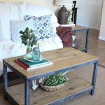 "Wood and ""Metal"" Frame Coffee Table"