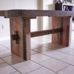 Faux Reclaimed Wood Dining Table for $120