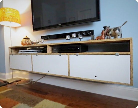 Floating Media Console for Under $30 - KnockOffDecor com