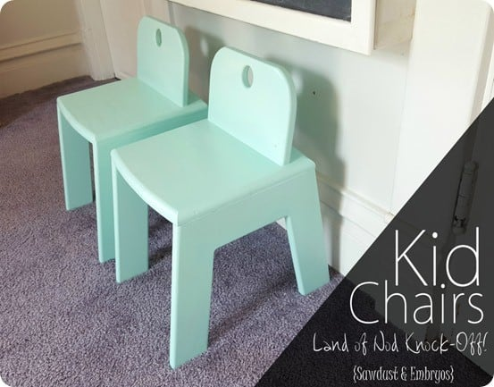 DIY Furniture ~ Land of Nod Knock Off Kids Chairs