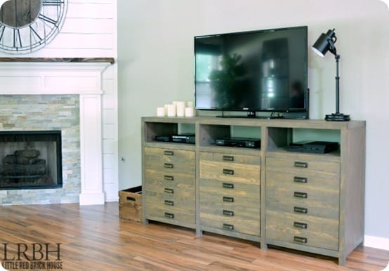 DIY Furniture ~ Printmaker's Console inspired by Restoration Hardware