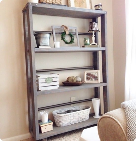 DIY Furniture ~ Restoration Hardware Knock Off Rolling Bookcase for $105