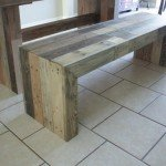 Faux Reclaimed Wood Bench for $27