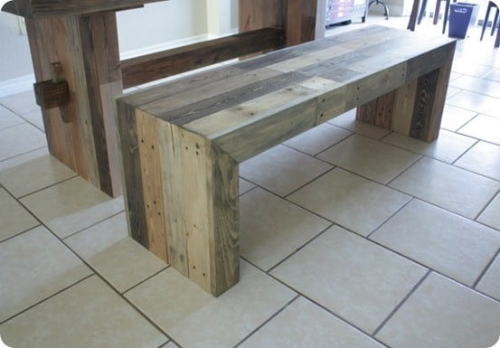 DIY Furniture ~ West Elm Knock Off Emmerson Dining Bench {with cut list and step-by-step tutorial}
