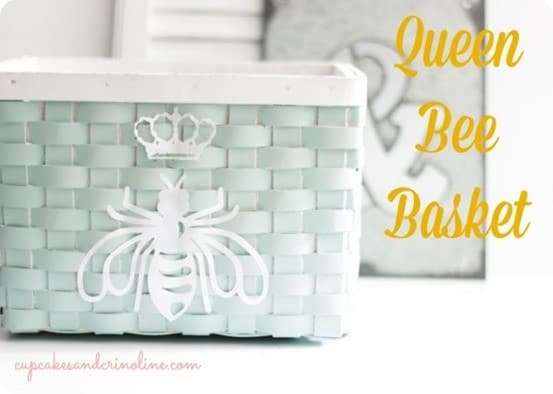 DIY Home Decor ~ Ballard Designs Inspired Queen Bee Basket