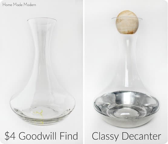 DIY Home Decor ~ Goodwill Wine Decanter Makeover