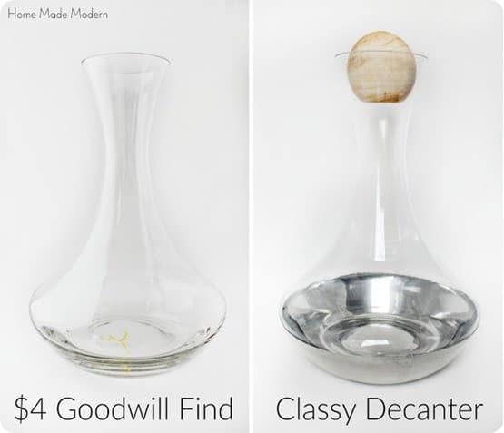 DIY Home Decor ~ Goodwill Wine Decanter Makeover