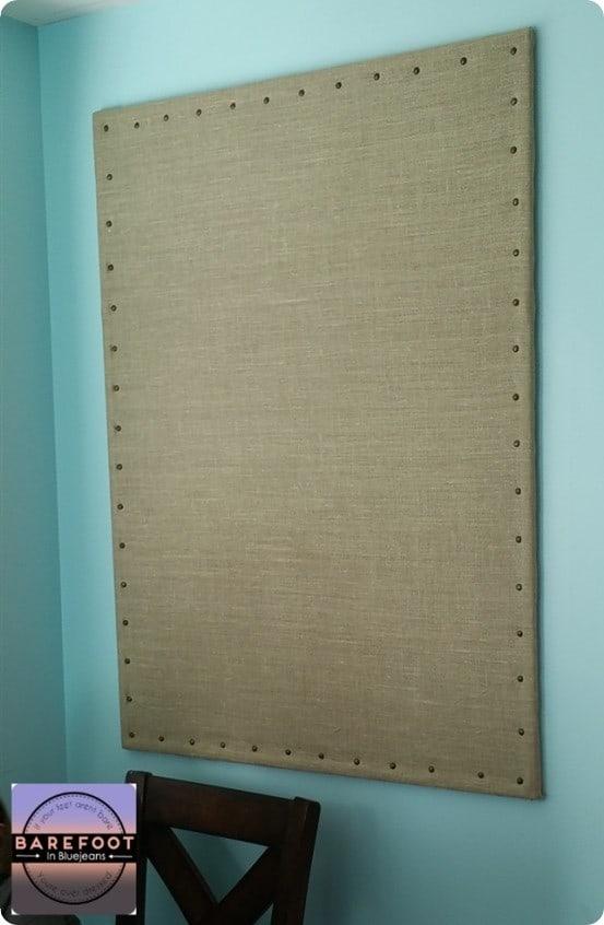 Make A Burlap Bulletin Board For 20 Knockoffdecor Com