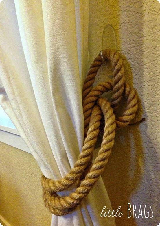 DIY Home Decor ~ Restoration Hardware Inspired Rope Curtain Tie Backs