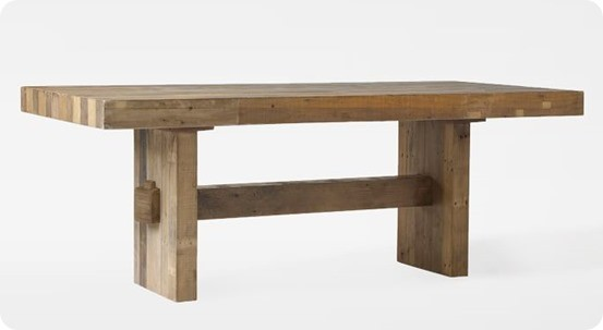 Faux Reclaimed Wood Dining Table For - West elm emmerson reclaimed wood coffee table