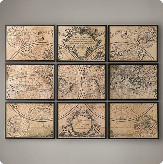 L'ISLE'S 1720 WORLD MAP from Restoration Hardware