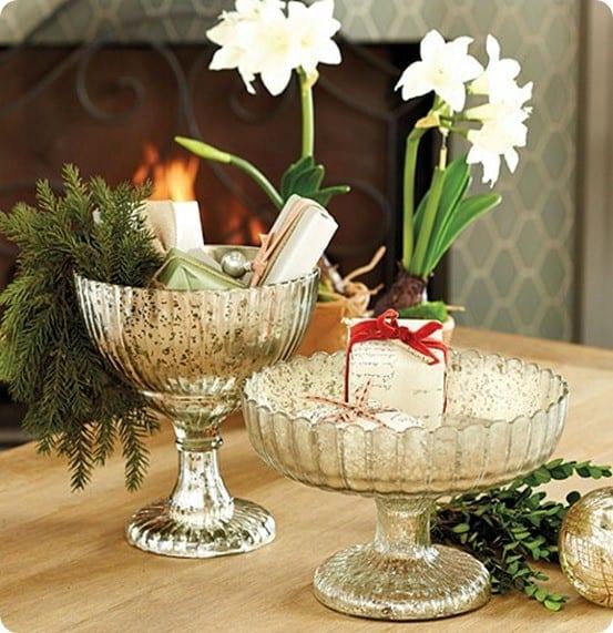 Mercury Glass Pedestal Bowl from Ballard Designs
