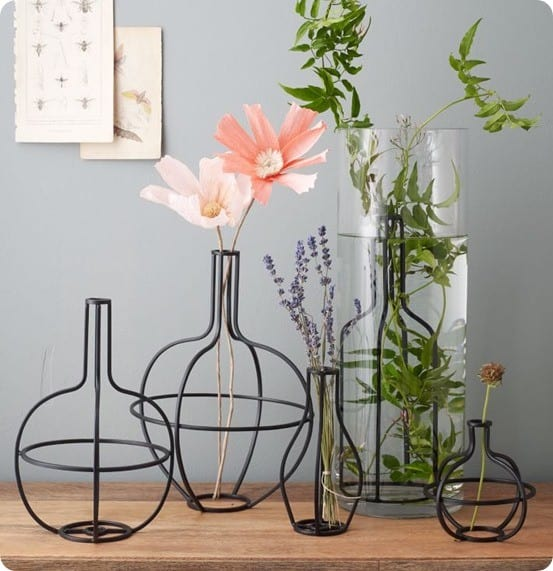 Metal Flower Arrangers from West Elm