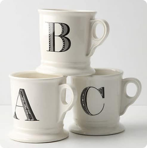 Monogram Mug from Anthropologie