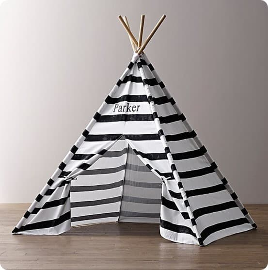 Printed Canvas Black and White Teepee